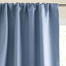 Chunky Linen Window Panel – Chambray