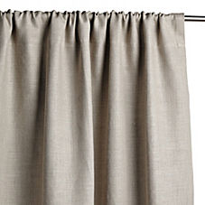Chunky Linen Window Panel – Pewter