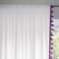 French Tassel Window Panel – Purple