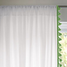 Emerald French Tassel Window Panel
