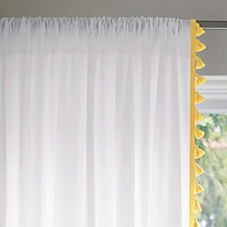 French Tassel Window Panel – Maize
