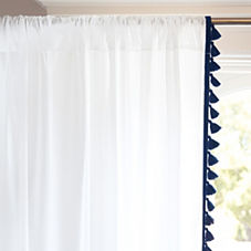 French Tassel Window Panel – Navy