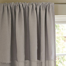 Putty Washed Linen Window Panel