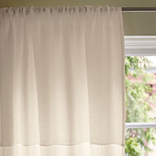 Ivory Washed Linen Window Panel