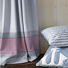 Chambray Yacht Stripe Window Panel