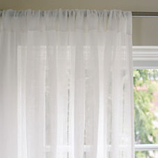 Hemstitch Linen Window Panel