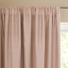Silk Shantung Window Panel – Blush