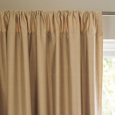 Silk Shantung Window Panel – Straw