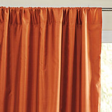Silk Shantung Window Panel – Saffron