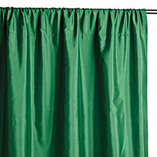 Silk Shantung Window Panel – Malachite