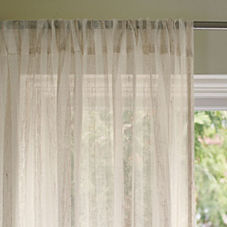 Linen Stripe Window Panel – Natural