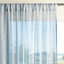 Linen Stripe Window Panel – Chambray