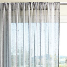 Linen Stripe Window Panel – Pewter