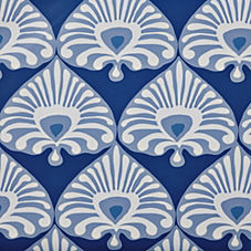 Palmetto Wallpaper – Cobalt/Periwinkle