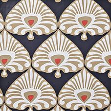 Palmetto Wallpaper – Inkwell Blue/Khaki