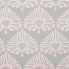 Palmetto Wallpaper – Stone/Blush