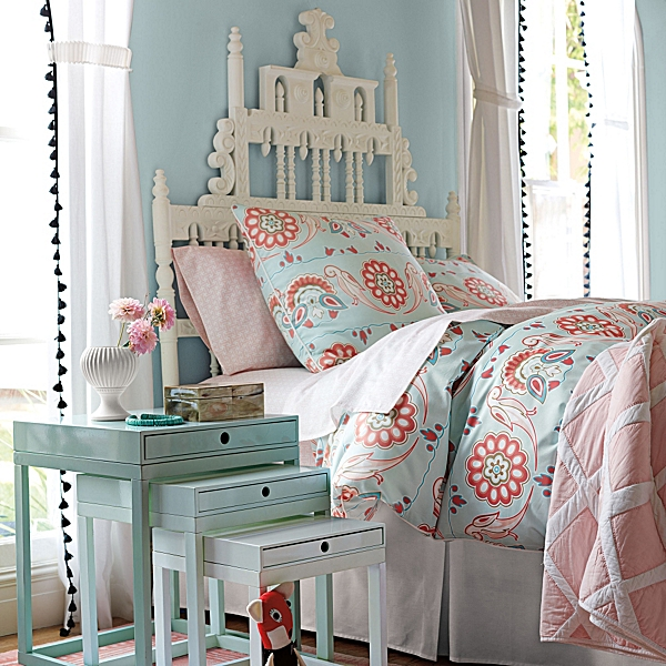 Updated pink and turquoise kids bedding for Turquoise and pink bedroom