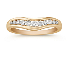 Round Diamond Contour Anniversary Band