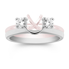 Round Diamond Solitaire Engagement Ring Enhancer
