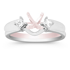 Princess Cut Diamond Solitaire Engagement Ring Enhancer