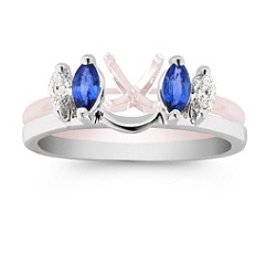 Marquise Sapphire and Diamond Solitaire Engagment Ring Enhancer