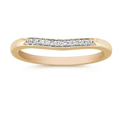 Diamond Contour Anniversary Band with Pave Setting