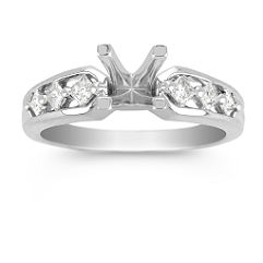 Cathedral Princess Cut Diamond Engagement Ring (1/4 ct t.w.)