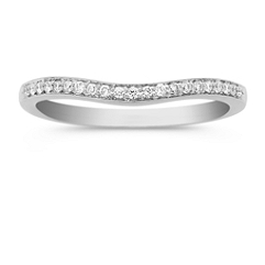 Contour Diamond Wedding Band