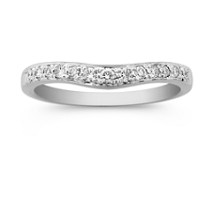 Round Diamond Contour Anniversary Band in Platinum