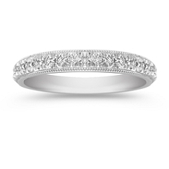 Diamond Platinum Wedding Band