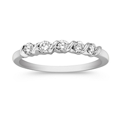 Five Stone Diamond Channel Set Anniversary Band
