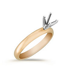 Solitaire Yellow Gold Engagement Ring