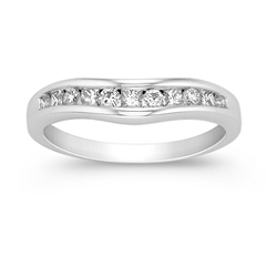 Princess Cut and Round Diamond Wedding Band