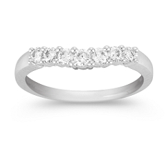 Contour Diamond Platinum Anniversary Band