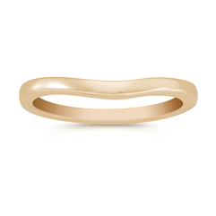 14k Yellow Gold Contour Wedding Band (2mm)
