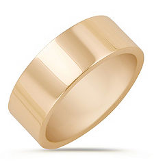 14k Yellow Gold Wedding Band (8mm)
