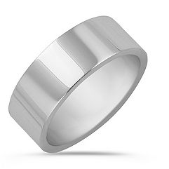 14k White Gold Wedding Band (8mm)