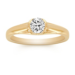 3/8 ct. Round Diamond Engagement Ring