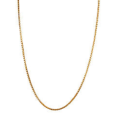 14k Yellow Gold Box Chain (24 in.)
