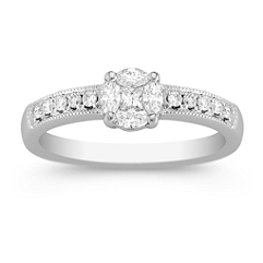 Marquise, Princess Cut, and Round Diamond Ring