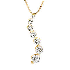 Round Diamond Journey Pendant (18 in.)