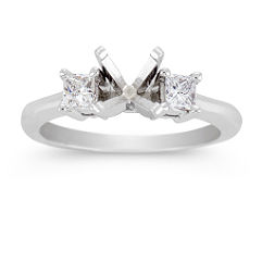 Princess Cut Three-Stone Diamond Engagement Ring