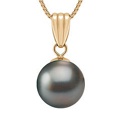 "10mm Cultured Tahitian Pearl Pendant (18"")"