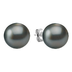 10mm Cultured Tahitian Pearl Solitaire Earrings