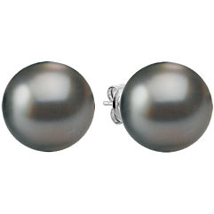 12mm Cultured Tahitian Pearl Solitaire Earrings