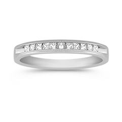 Princess Cut Diamond Anniversary Band with Channel Setting