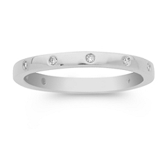 Bezel Set Diamond Anniversary Band