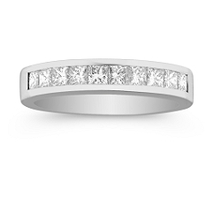 Channel Set Wedding Bands