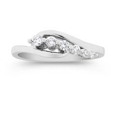Round Diamond Journey Ring