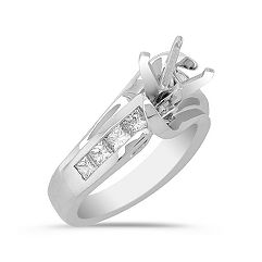 Princess Cut Diamond Engagement Ring in Platinum